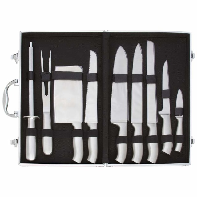 Slitzer 6pc Professional Surgical Stainless Steel Cutlery Set in Wood Case